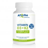Vitamin D3 5.000 IE + Natto Vitamin K2 MK-7 200 µg - 365 Tabletten | Familienpackung
